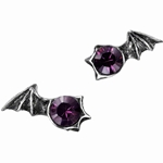 Matins Bat Wing Earrings Pewter Alchemy E252