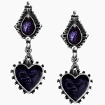 Mirror of the Soul Earrings Pewter Alcjhemy E271