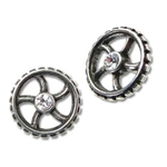 Diamond Crank-Wheel Earrings 17-E292
