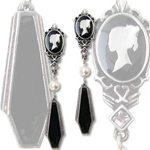 Coffin Drop Cameos Earrings 17-E300