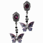 Death's-Head Butterfly Studs (Pair) 17-E301