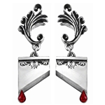 Marie Antoinette Earrings Pewter Alchemy E310