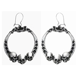Ivy League Earrings Pewter Alchemy E314