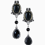 She Walks In Beauty Earrings Pewter Alchemy E315