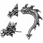 Tor Dragon Earring Pewter Alchemy E324