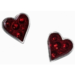 Heart's Blood Earrings Pewter Alchemy E332