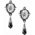Catoptrauma Mirror Earrings Pewter Alchemy E334