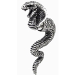 Cobra Life Force Earring Pewter Alchemy E337