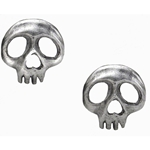 Skully Earrings Pewter Alchemy E343