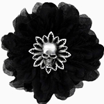 Black Dahlia Hair Clip Pewter Alchemy HC7