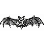 Darkling Bat Hair Slide Pewter Alchemy HH1