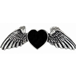Coeur Noir Hair Slide Pewter Alchemy HH5