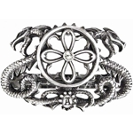 Drago Traction Hair Slide Pewter Alchemy HH7