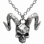 Skull of Azrael Pendant Pewter Alchemy P620