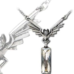 Chrysler Bat Crystal Pendant 17-P636