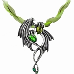 The Emerald Dragon Choker Pewter Alchemy P676