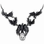 A Murder of Crows Necklace Pewter Alchemy P677