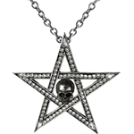 Crystalwitch Pentagram Pendant Pewter Alchemy P679