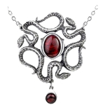 Serpents Eye Pendant Pewter Alchemy P688