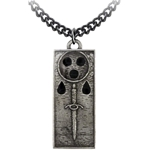 Death Ingot Necklace Pewter Alchemy P710