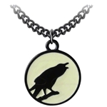 Caw at the Moon Pendant Pewter Alchemy P735