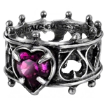 Elizabethan Ring Pewter Alchemy R156