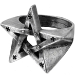 Pentagration Ring Pewter Alchemy R175