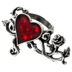 Bed Of Blood Roses Ring Pewter Alchemy R180