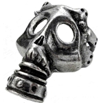 Asphyxia Mask Ring Pewter Alchemy R185