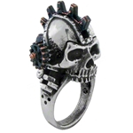 Steamhead Gearpunk Ring Pewter Alchemy R186