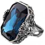 Britannia Gem Ring Pewter Alchemy R188