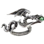 Starchaser Dragon Ring Pewter Alchemy R190