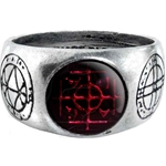 Agla Ring Pewter Alchemy R71