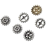 Small Gearwheel Buttons Pewter Alchemy S11