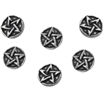 Pentagram Shirt Buttons Pewter Alchemy S6