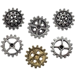 Large Gearwheel Buttons Pewter Alchemy S9