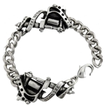 Twin Tattoo Gun Chain Bracelet Pewter Alchemy ULA3