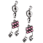 Dead Note Skull Earrings Peweter Alchemy ULFE17