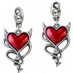 Devil Heart Earrings Peweter Alchemy ULFE22