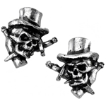 Live Now Stud Earrings Pewter Alchemy ULFE5