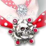 Skull Rose Necklace 17-ULFP10