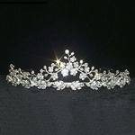 Filigree Crystal Tiara w/ Pearl Accents 172-11107