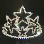 "4 1/8"" Stacked Star Tiara 172-11472"