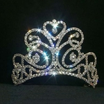 Small Flourishing Heart Tiara - Contoured Base 172-11867SM