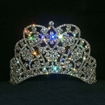 Large Butterfly Cluster Tiara - Contoured Base 172-11914