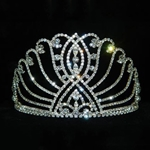 Large Intersecting Scroll Tiara - Contoured Base