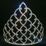 "Traditional Rhinestone Crown - Silver 8"" 172-11931S"
