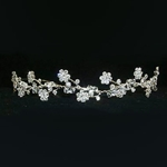 Crystal Beaded Flower Tiara