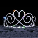 Tear Drop Heart Tiara 172-13652