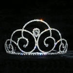 Pear Down Swirl Tiara 172-14035